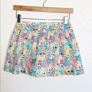 Gymboree Cotton Colorful Floral Mini Skirt
